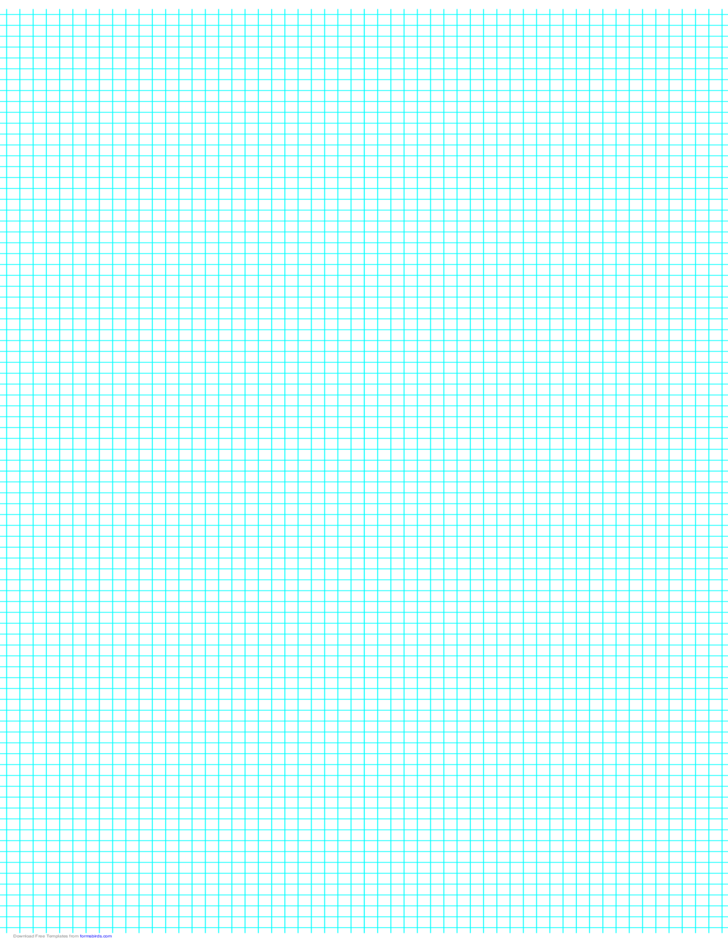5 Lines per Inch Graph Paper on Ledger-Sized Paper