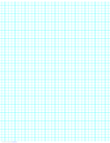 3 Lines per Inch Graph Paper on Ledger-Sized Paper (Heavy)