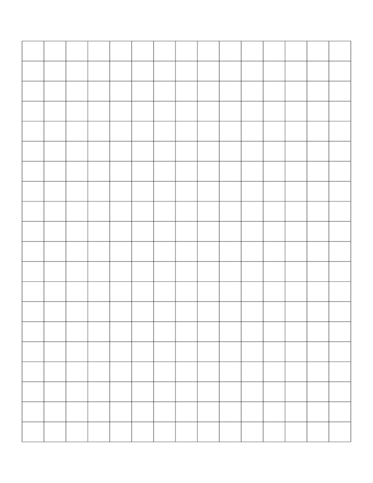 Blank Graph Paper Template