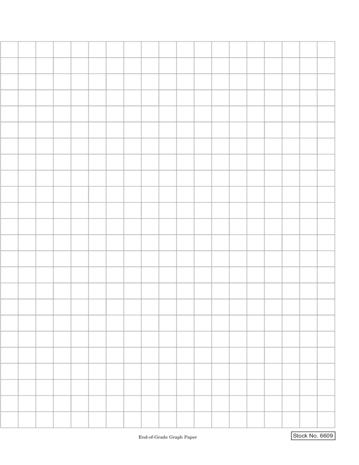 Blank End-of-Grade Graph Paper