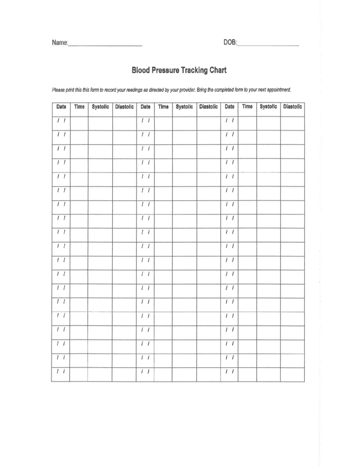 blood pressure tracking chart free download