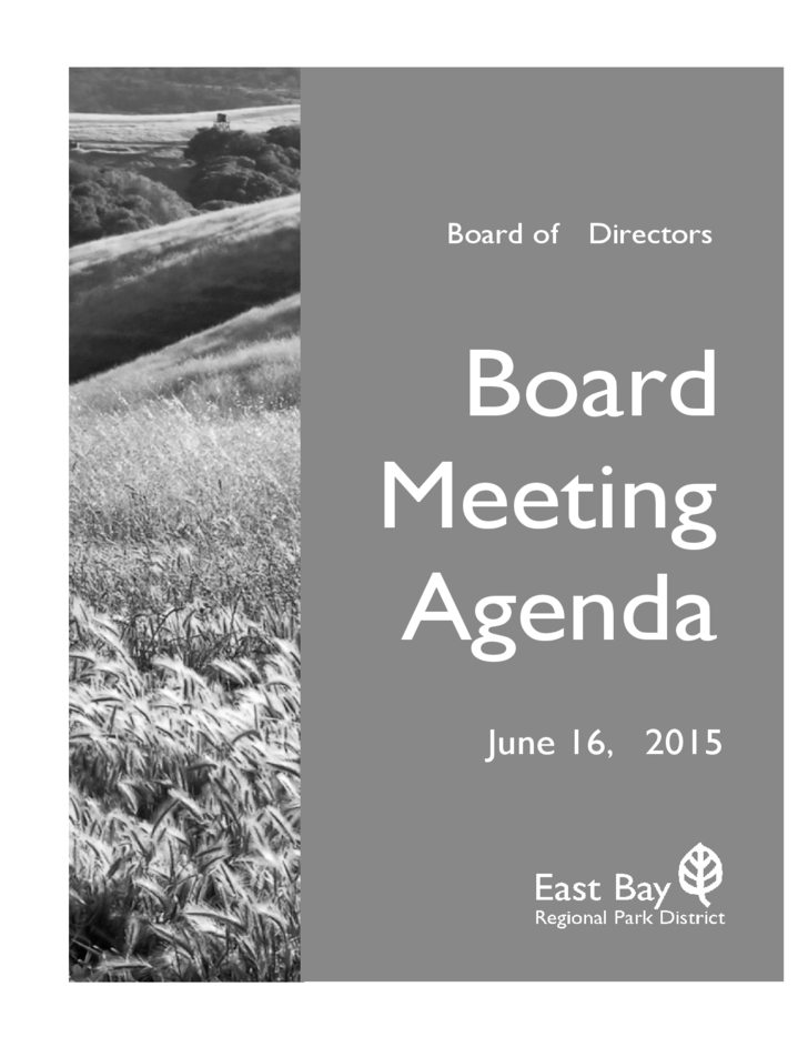 how to create an agenda for a board meeting