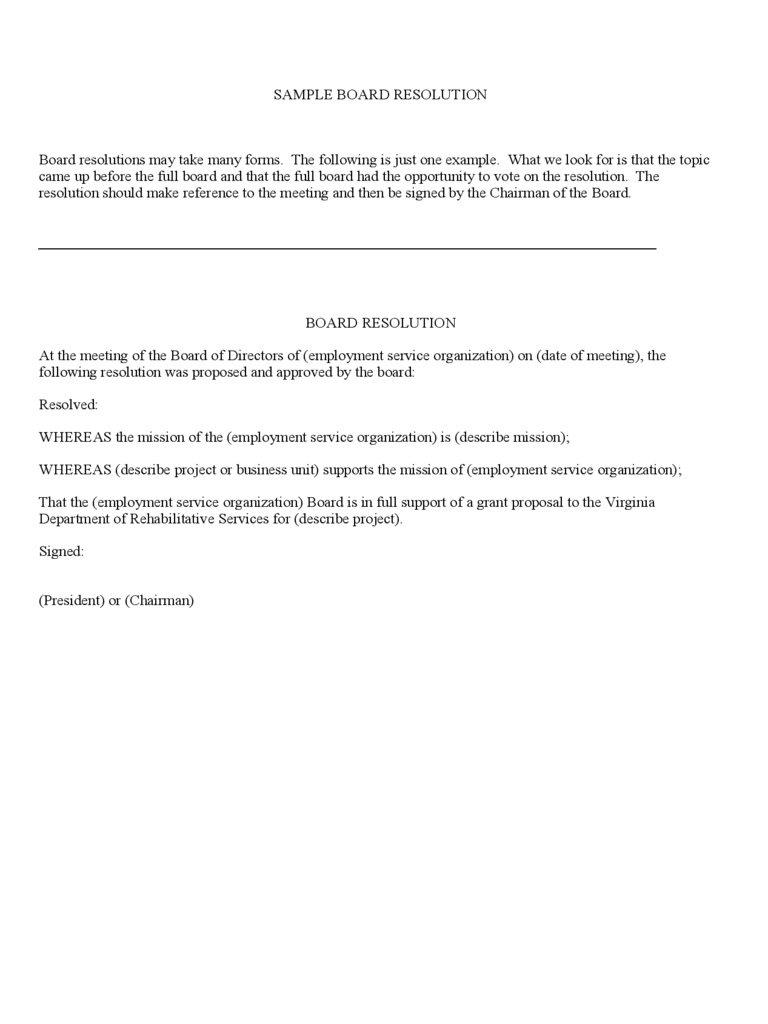 Board resolution template 6 free templates in pdf word for Letter of resolution template
