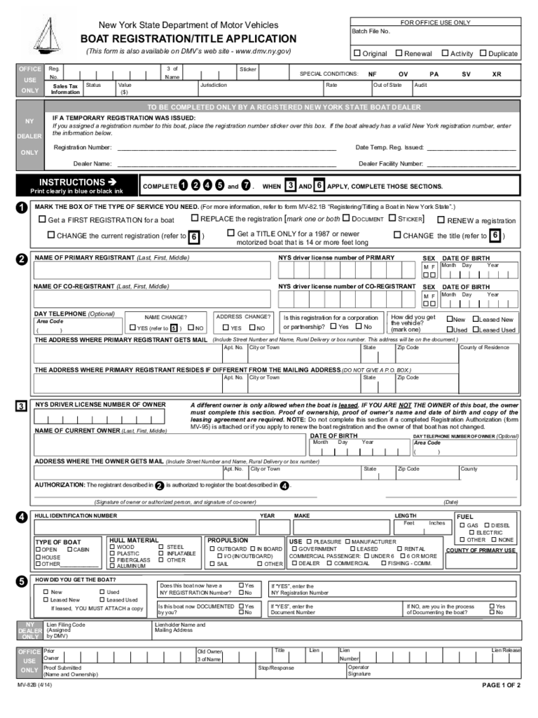 Boat Registration Form 2 Free Templates In Pdf Word