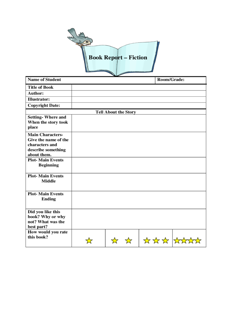 Book Report Template 6 Free Templates In Pdf Word Excel Download