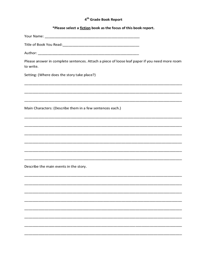 download a book report Help 5th and 6th graders write mature book reports with our free, printable writing worksheet, 'book report 5 & 6' use this worksheet a couple of times, and soon your 5th grader will be writing book reports in her sleep.