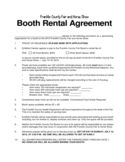 Sample Booth Rental Agreement Template Free Download
