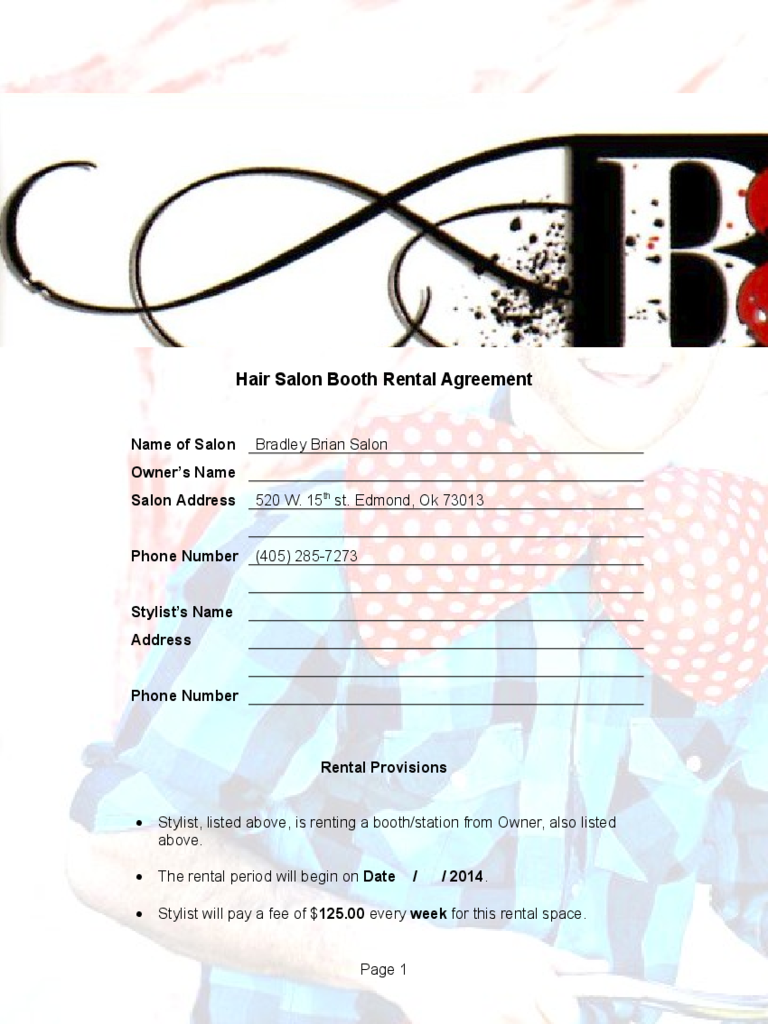 Rental Agrrement Form