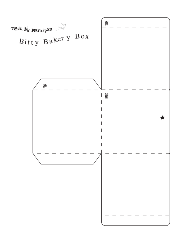 Bitty Bakery Box Template