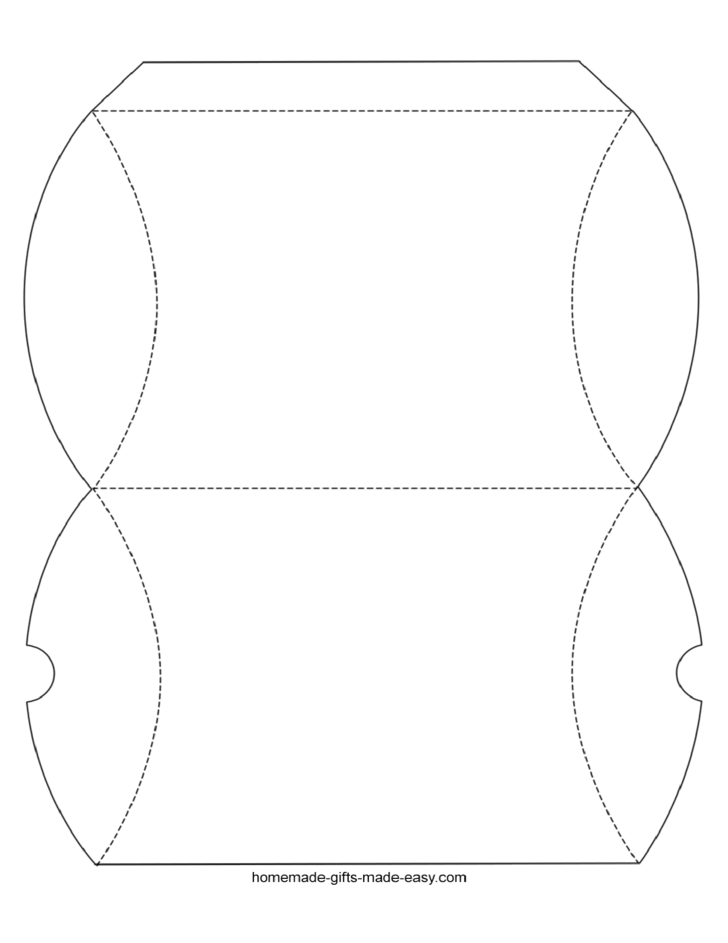 pillow box template sample free download