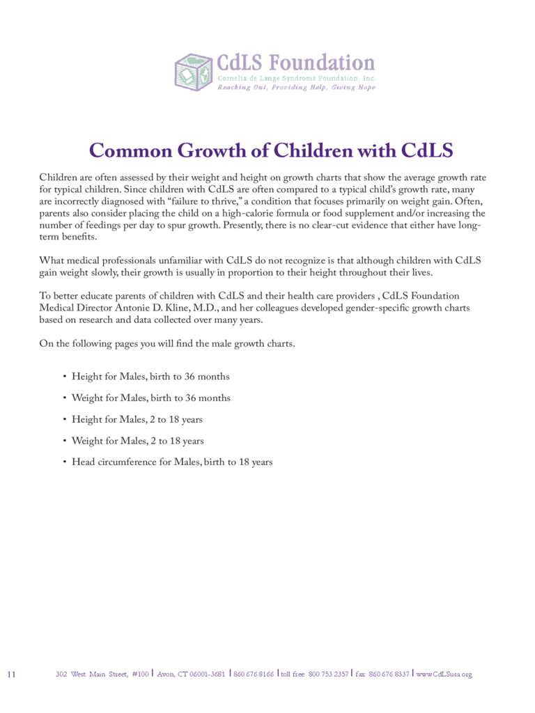 Growth Charts for Boys Free Download