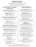 Breakfast Menu Sample Free Download