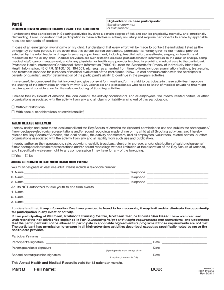 Magnificent Bsa Medical Form Inspiration - Administrative Officer ...