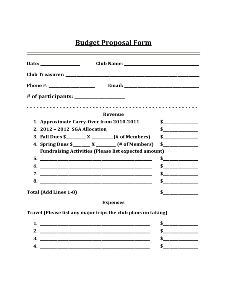 Budget proposal template 3 free templates in pdf word for Standard rfp template