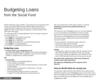 Budgeting Loans from the Social Fund Form