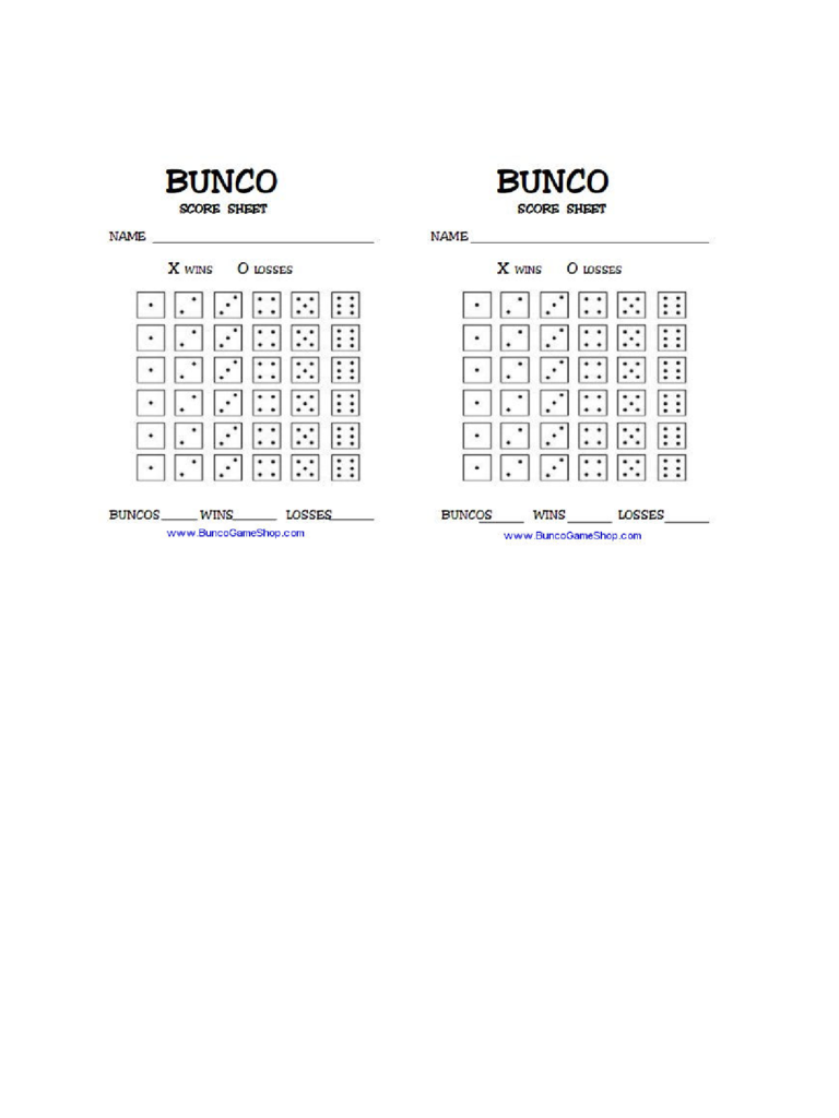 Bunco Score Sheet Template Pictures to Pin PinsDaddy – Bunco Score Sheets Template
