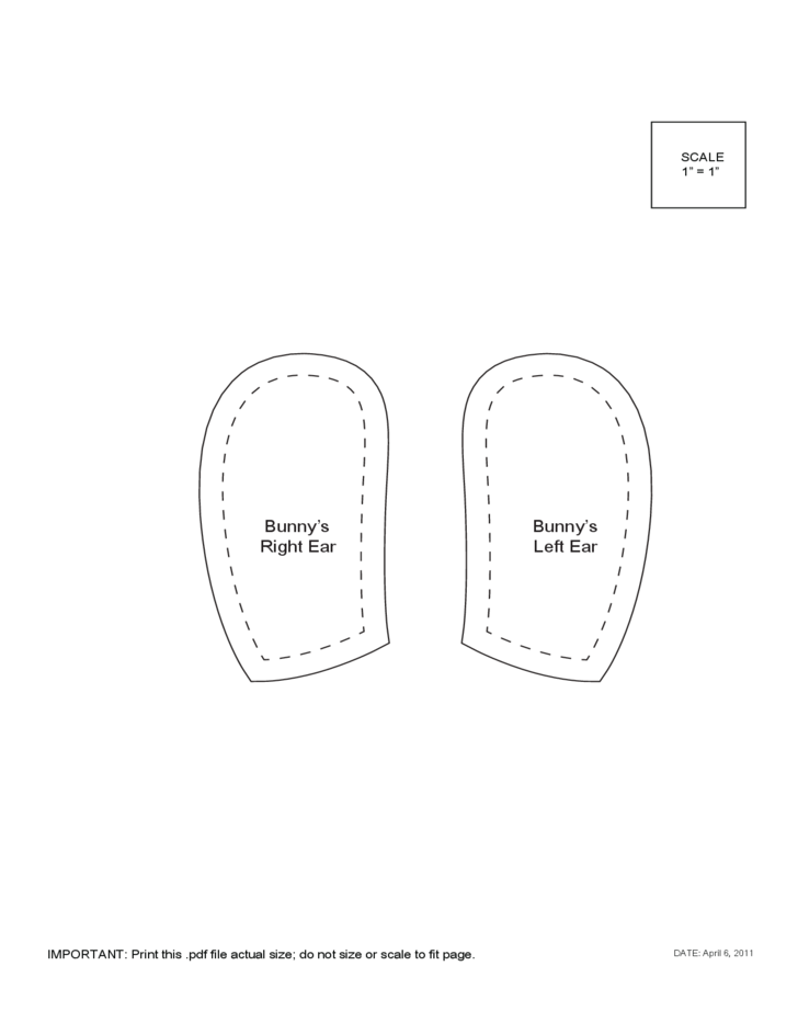 Pattern Bunny Ears Template Free Download