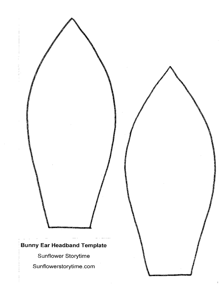 Bunny Ear Template 4 Free Templates In Pdf Word Excel Download