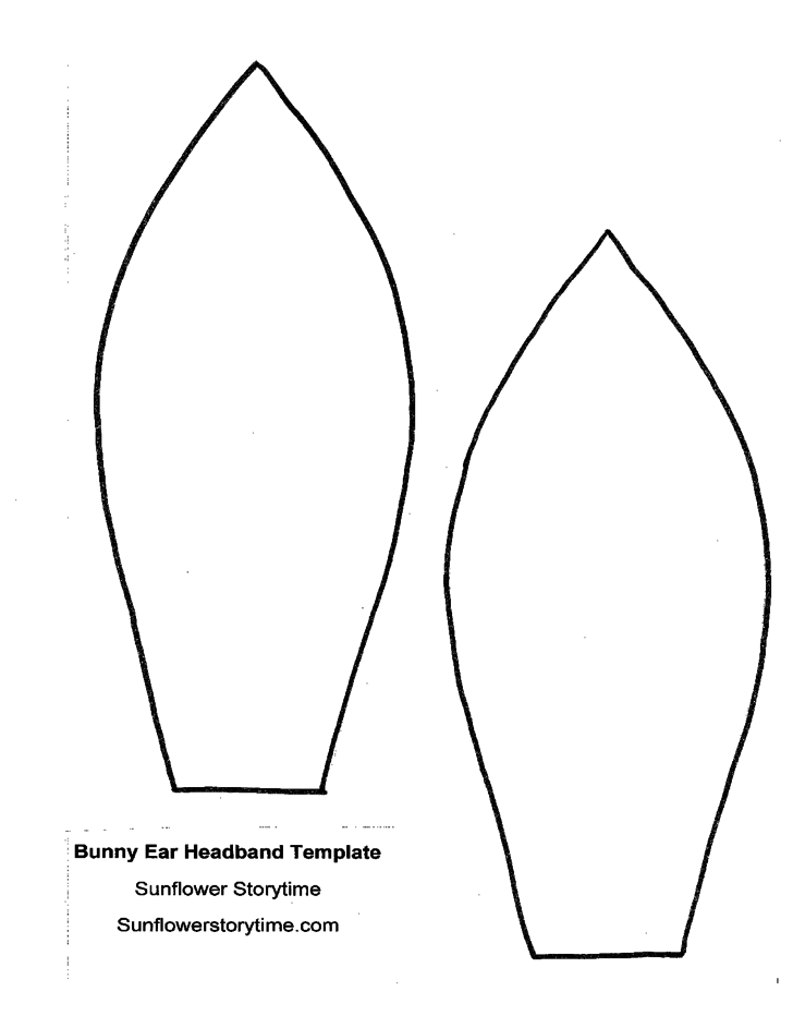bunny ear headband template l1