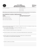 Statement Relating to Manufacturing Activities - Massachusetts Free Download