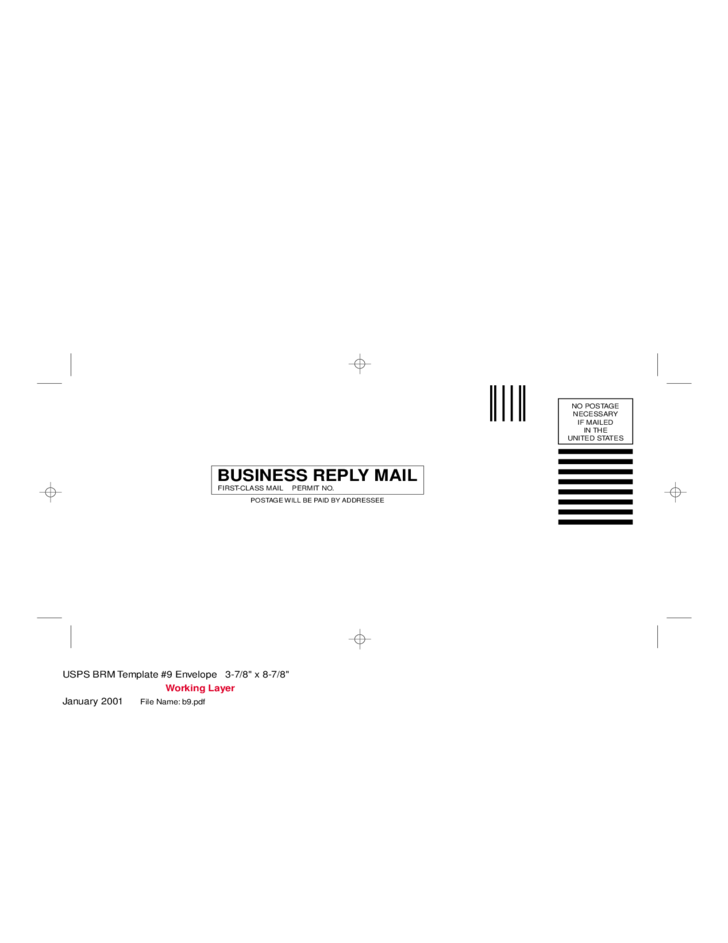 business reply mail envelope free download
