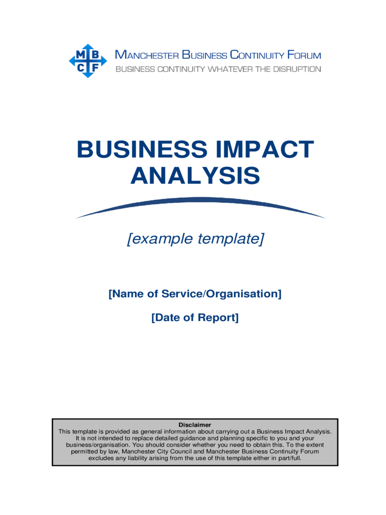 Business impact analysis template 5 free templates in pdf word building a business impact analysis bia process accmission