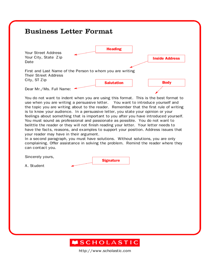 business letter format free download