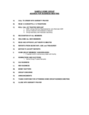 Sample Home Group Agenda For Business Meeting Free Download