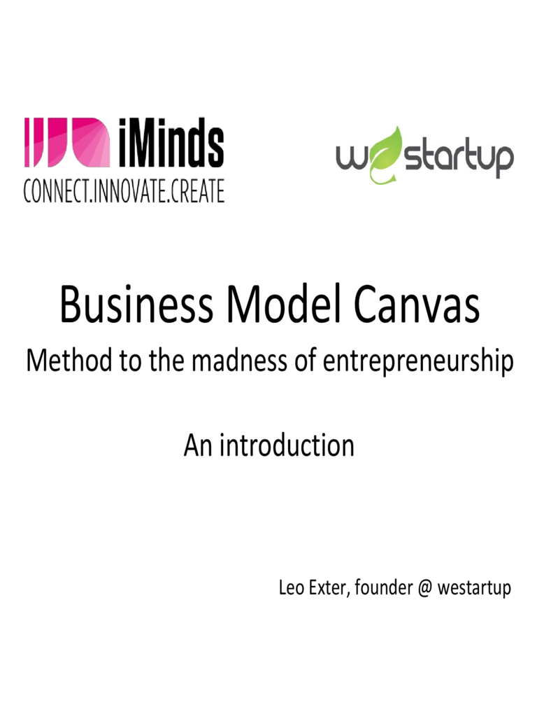 Business Model Canvas PPT Template