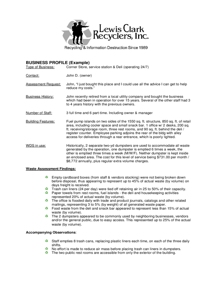 Business Profile Template 10 Business Profile Template Example – Business Profile Template