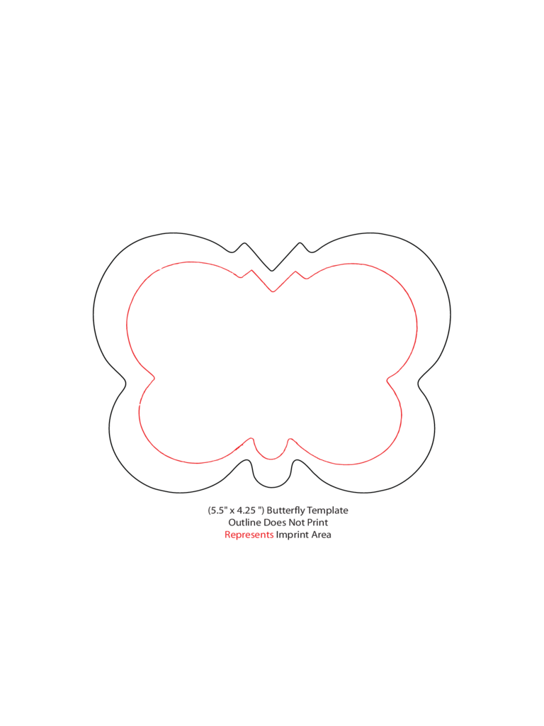 Sample Template of Butterfly