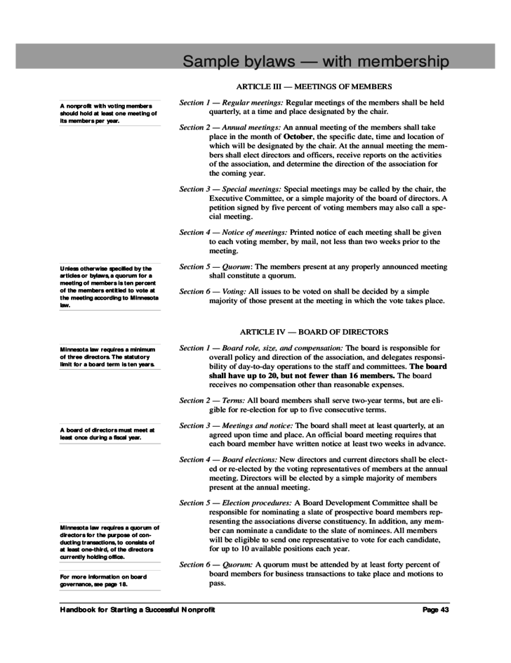 s corporation bylaws template - sample bylaws with membership free download