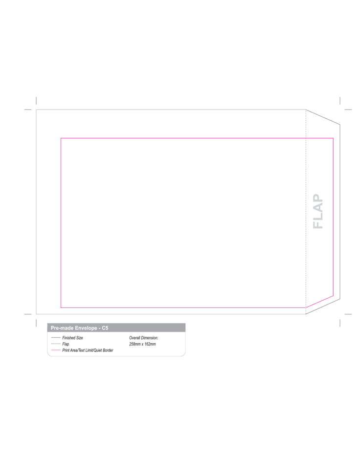 C5 envelope printing template free download for Print on envelope template
