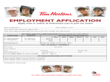 Tim Horton Employment Application From