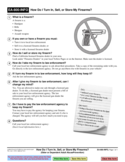 EA-800-INFO How to Turn in, Sell or Store Firearms
