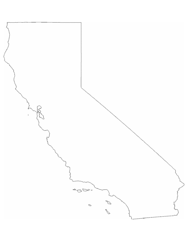 California Map Template   8 Free Templates in PDF, Word, Excel