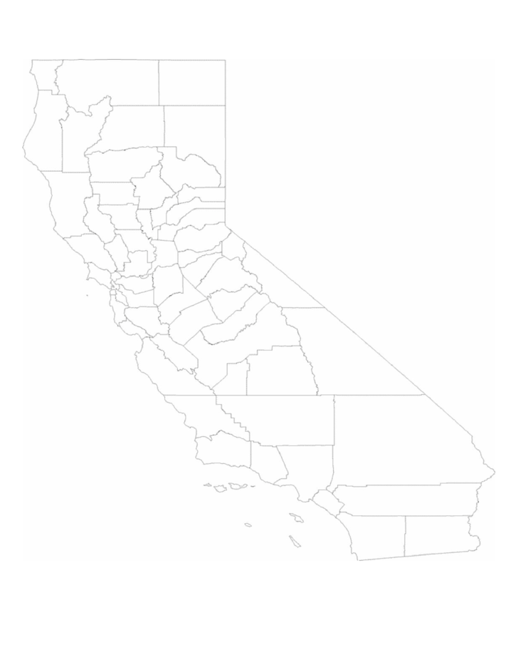 Blank California County Map