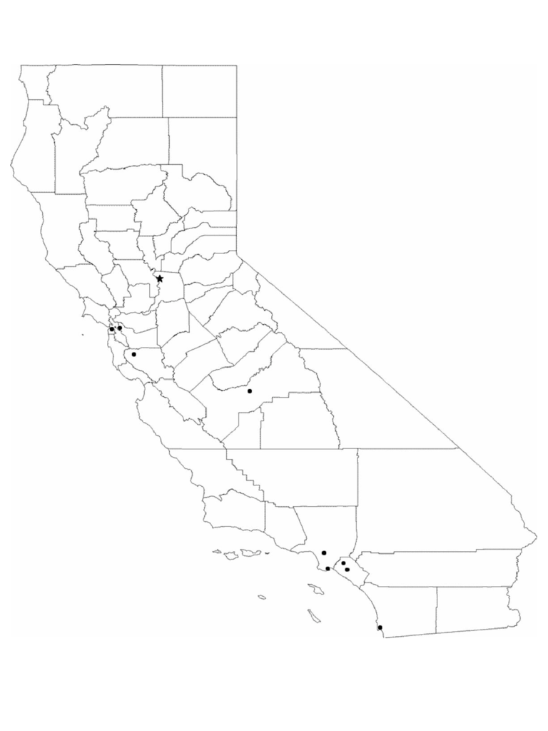 Blank California City Map Free Download