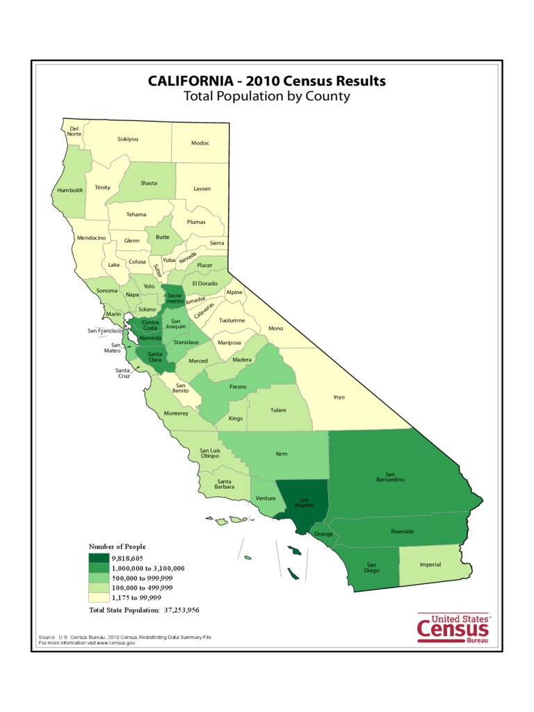 California County Population Map