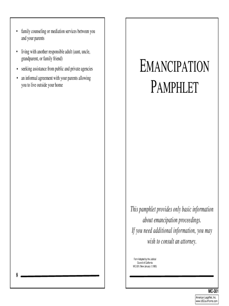 emancipation papers online california