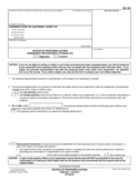 DE-165 Notice of Proposed Action (Objection - Consent)
