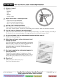 SV-800-INFO How to Turn in, Sell, or Store Firearms?