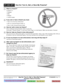 WV-800-INFO How to Turn in, Sell, or Store Firearms?