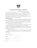 Non-refundable Car Deposit Agreement Form Free Download