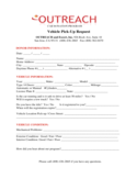 Car Donation Form - Outreach Free Download