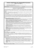 Car Insurance Application Form - Ontario Free Download