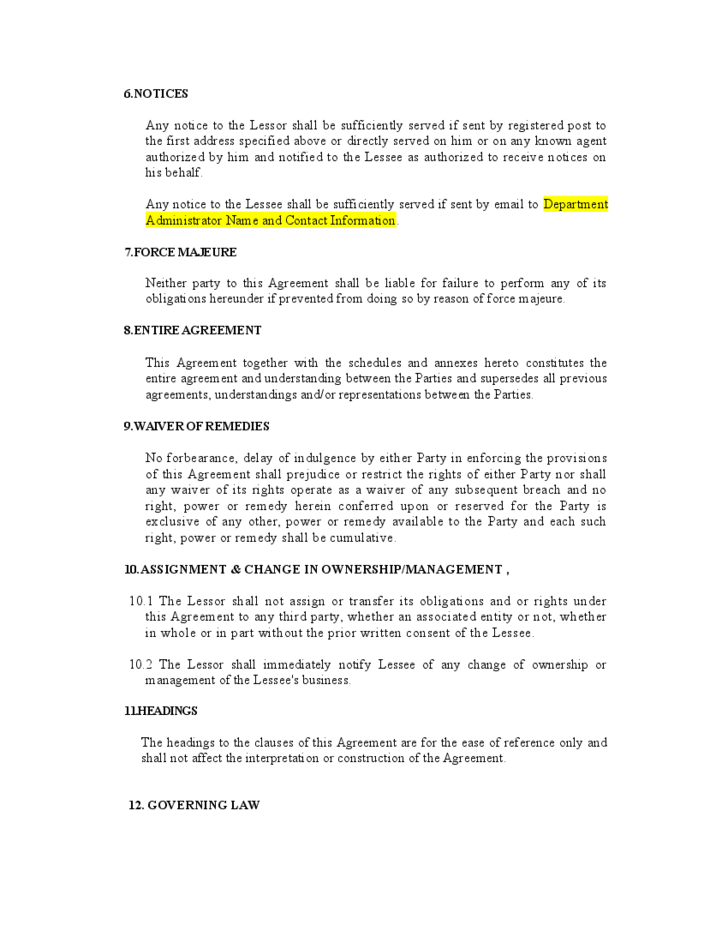 Vehicle lease agreement template free download for Motor vehicle lease agreement template