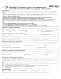 Statement of Transaction - Sale or Gift Form - New York Free Download