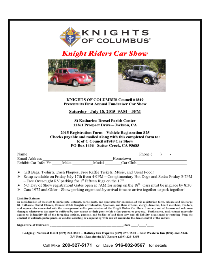 Knights Of Columbus Car Show