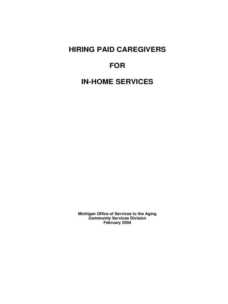 caregiver contract template hiring formal caregivers for in home services michigan